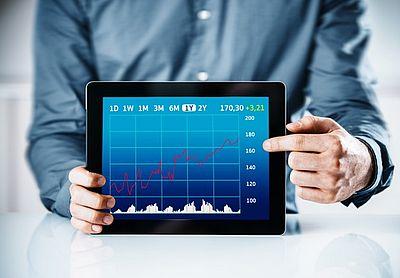 Überwachung Werte Tablett